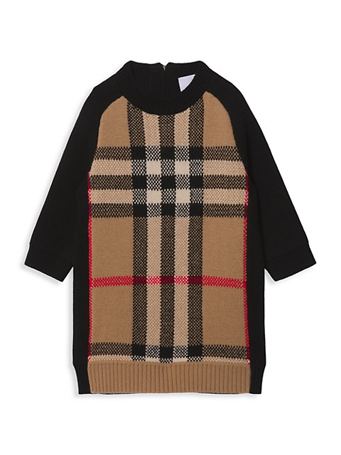 Baby's & Little Girl's Dianne Archival Vintage Check Wool-Cashmere Sweater Dress