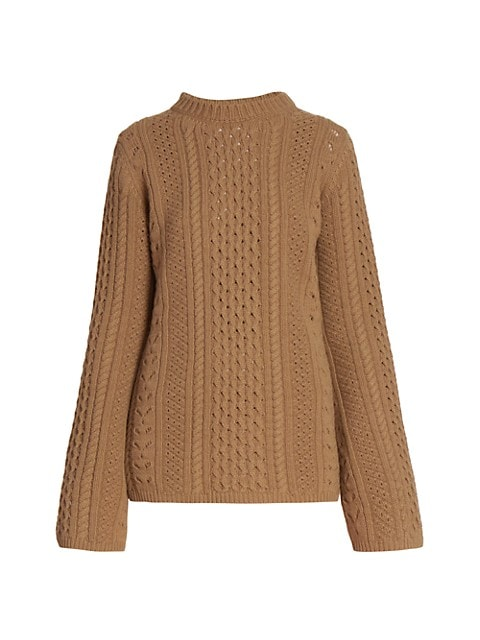 Mixed Stitch Wool-Cashmere Pullover