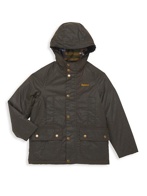 Little Boy's & Boys Beaufort Wax Hooded Jacket