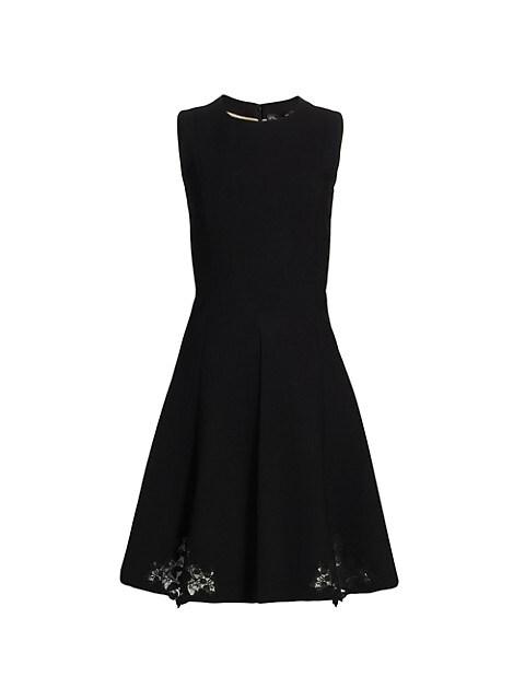 Lace-Detailed A-Line Dress