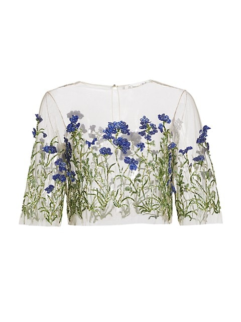 Crystal Floral Embroidered Top