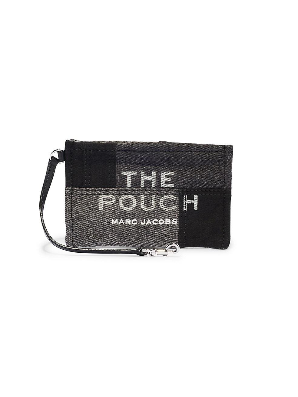 마크 제이콥스 파우치 Marc Jacobs Small Patchwork Denim Pouch,BLACK DENIM