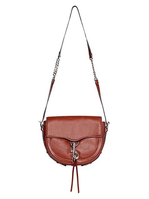 Megan Leather Saddle Crossbody Bag