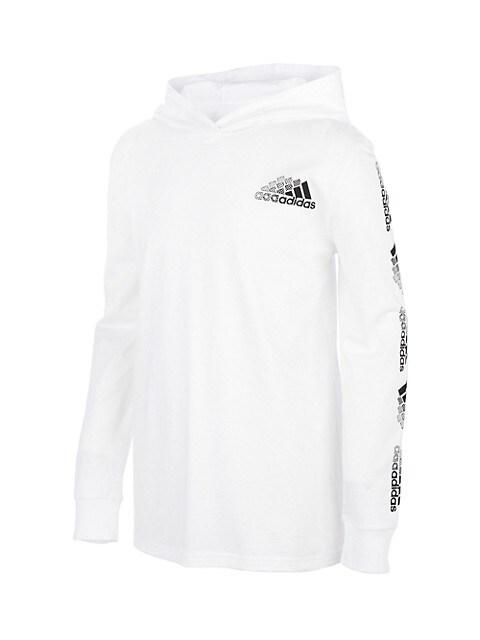 adidas Little Boy's & Boy's Innovation Hooded Long-Sleeve T-Shirt ...