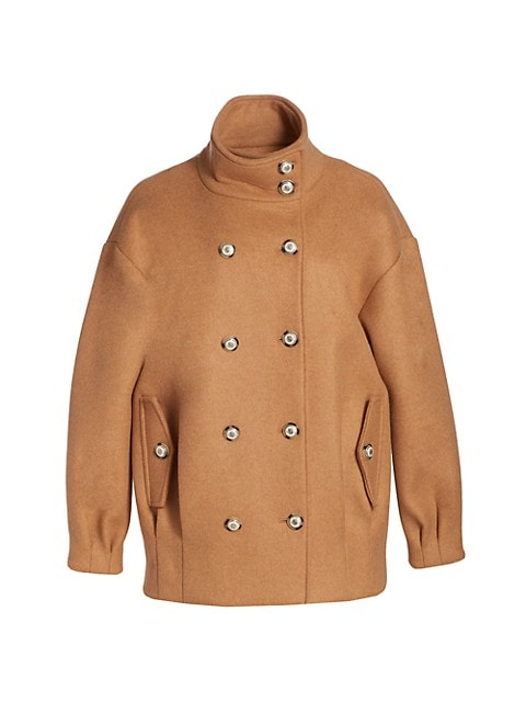 Cassie Double-Breasted Wool-Blend Coat