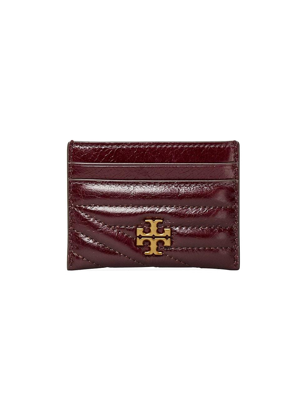 토리버치 카드 지갑 Tory Burch Kira Chevron Leather Card Case,FIG