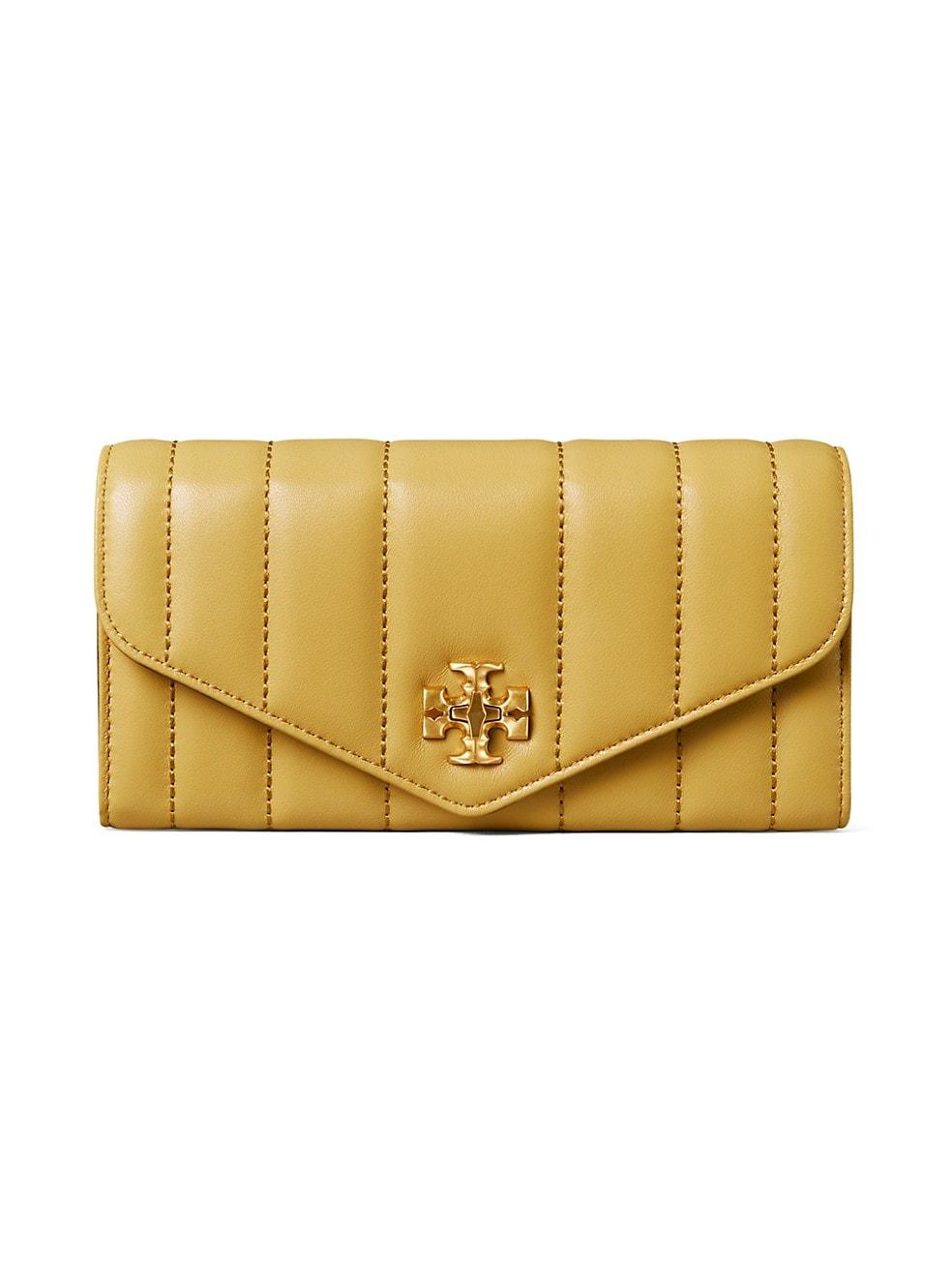 토리버치 지갑 Tory Burch Kira Leather Envelope Wallet,BEESWAX