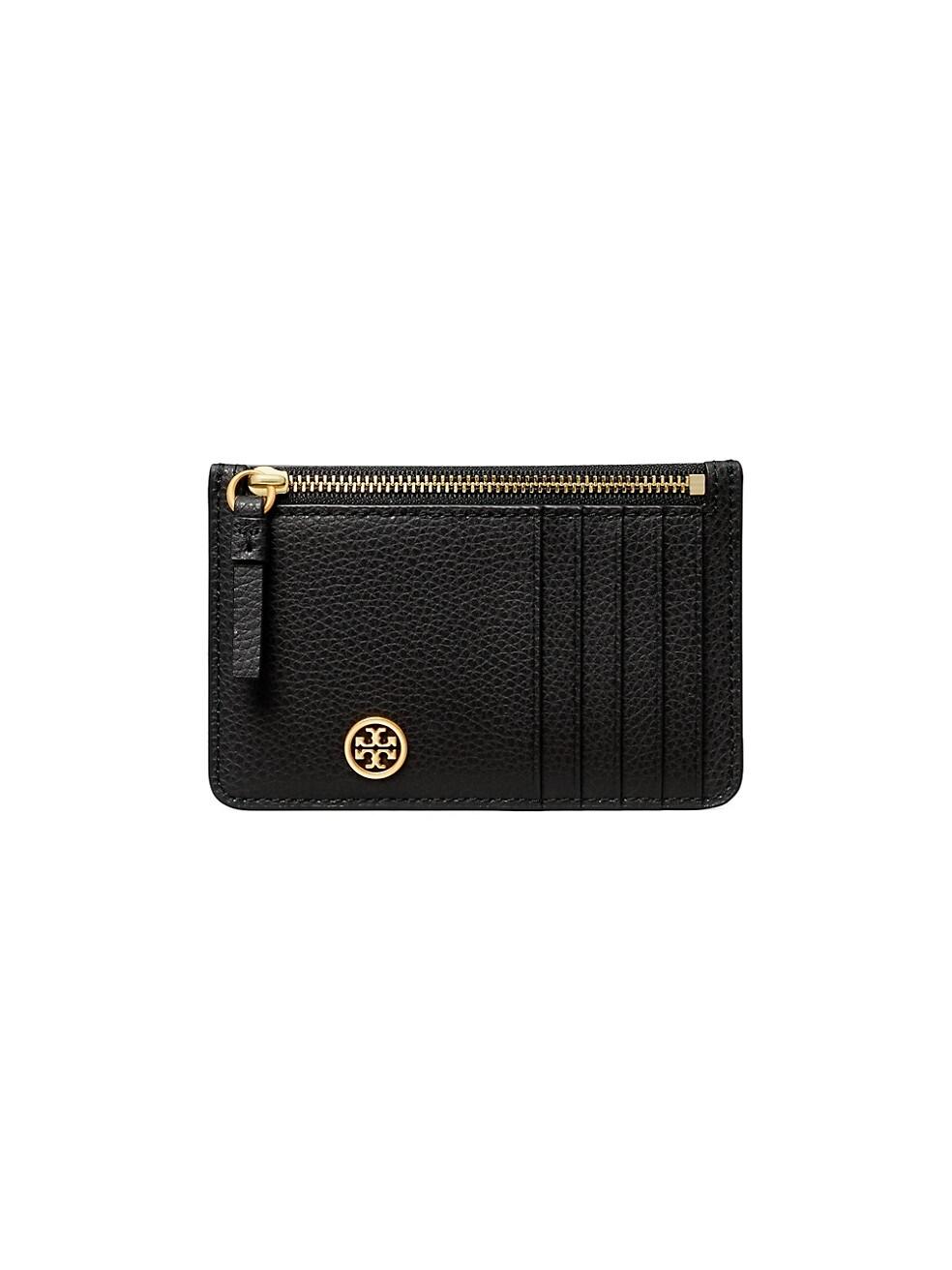 토리버치 카드 지갑 Tory Burch Walker Leather Top-Zip Card Case,BLACK