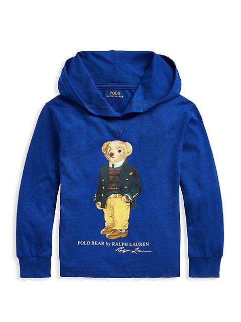 Little Boy's Heritage Polo Bear Hoodie