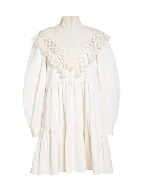 Cindy Seersucker Macramé Dress