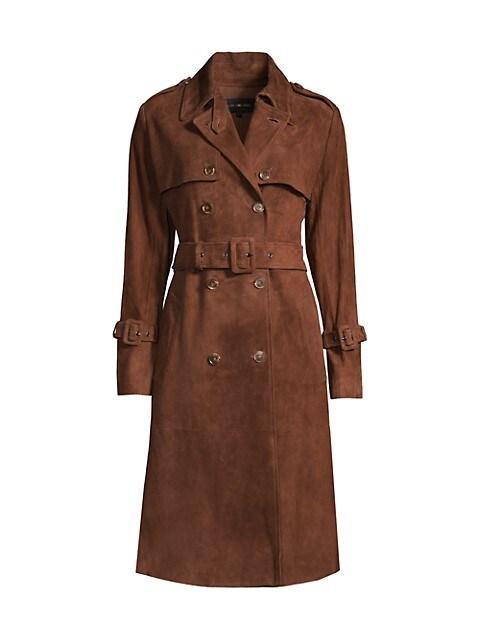 Ayla Suede Trench Coat