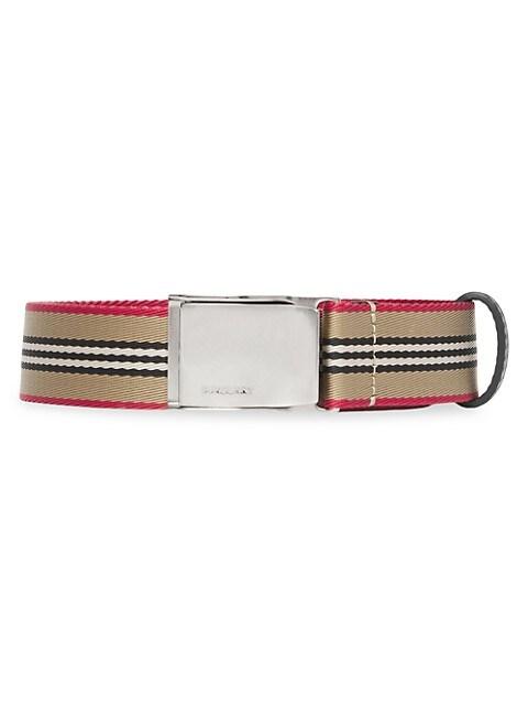Seatbelt Buckle Webbed Belt