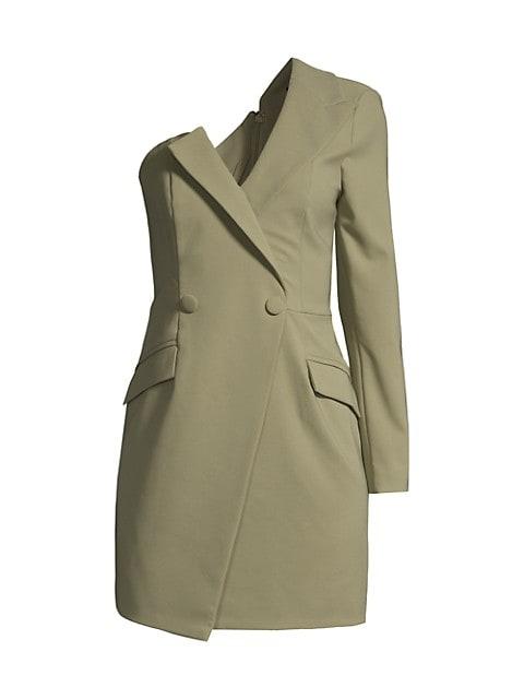 One-Shoulder Blazer Minidress