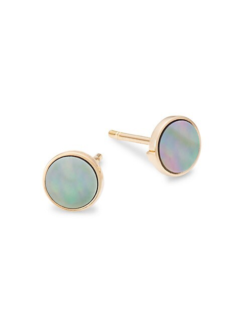 Ever 18K Rose Gold & Mother-Of-Pearl Stud Earrings