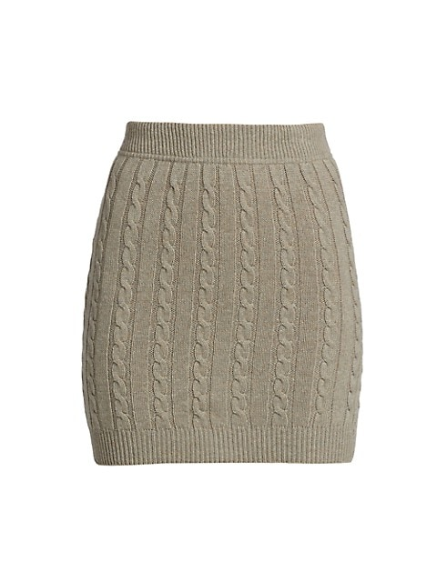 Wool-Cashmere Blend Cable-Knit Skirt