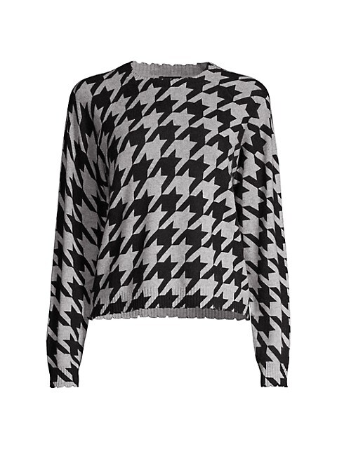 Houndstooth Cashmere Sweater