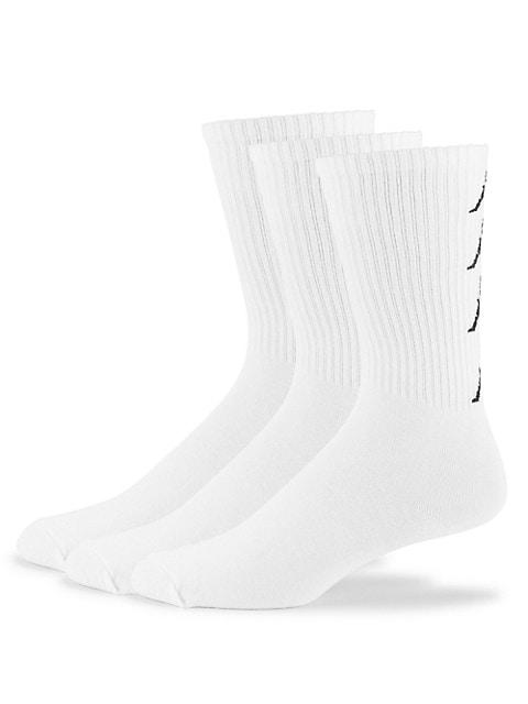 3-Pack, Logo Cotton-Blend Socks