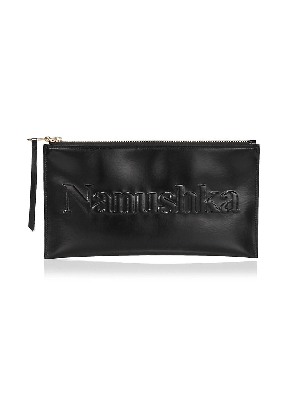 나누슈카 Nanushka Lamara Vegan Leather Pouch,BLACK