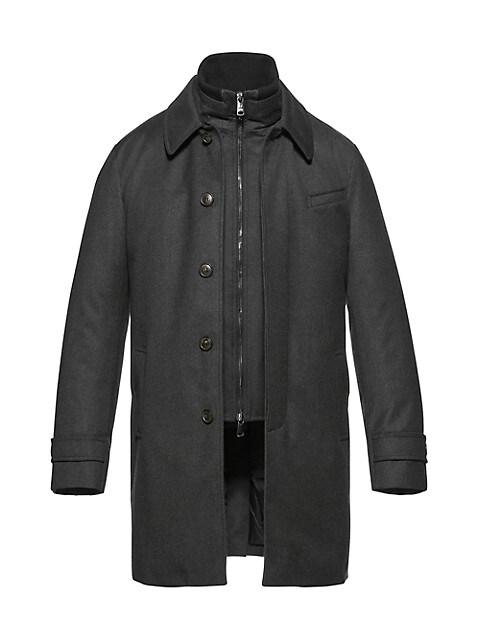 Wool & Silk Euro Coat