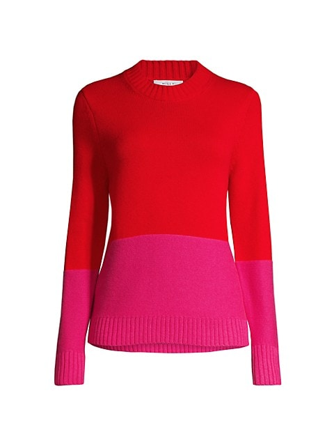 Colorblocked Crewneck Sweater