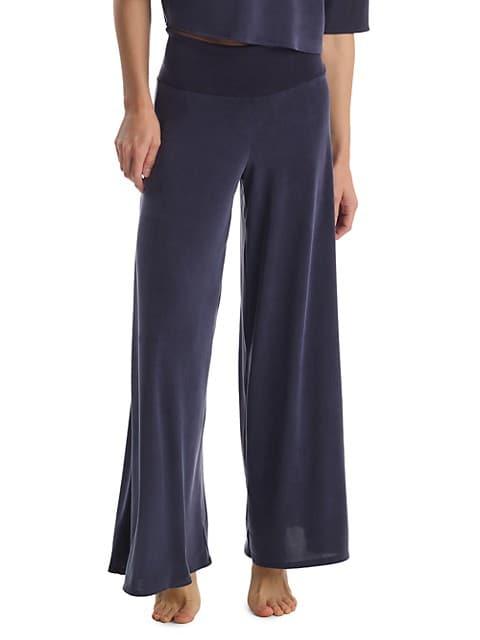 Vegan Silk Wide-Leg Pants