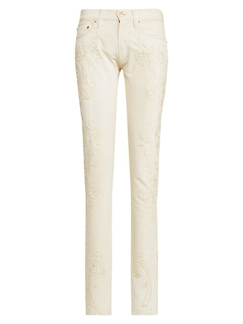 Glass-Embellished 160 Jeans