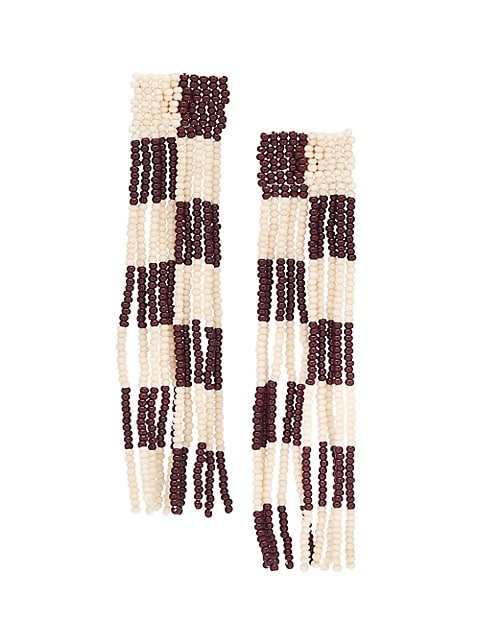 Clara Beaded Checkerboard Earrings