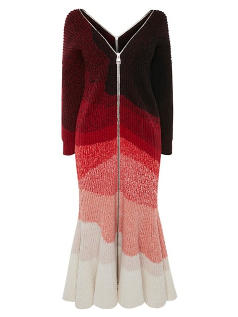Off-The-Shoulder Zip Dress