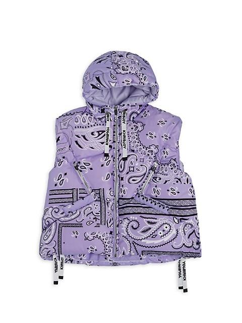 Girl's Puffer Bandana Vest