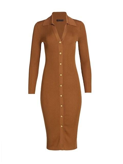 Alcina Button-Down Polo Dress