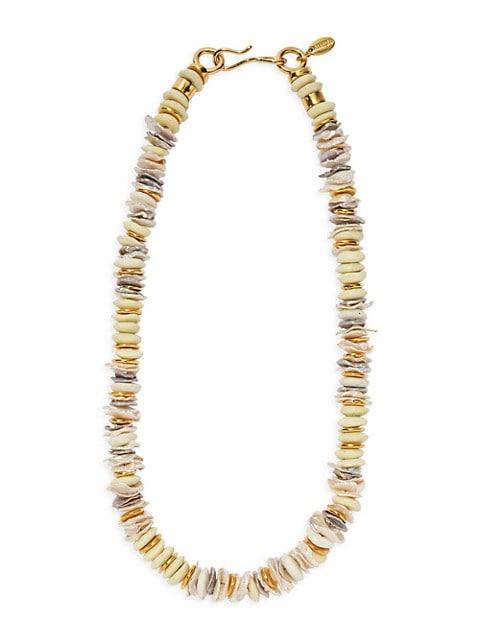 Multi-Stone 18K Goldplated Iliad Necklace