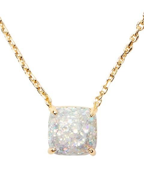 Goldplated Mini Glitter Pendant Necklace
