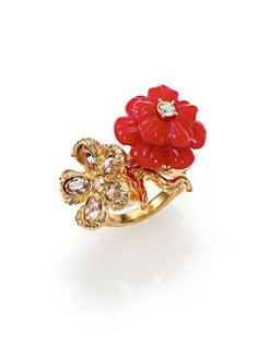 Alexander McQueen - Mixed Flower Ring