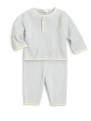 Infants TwoPiece Cashmere Shirt  Pants Set