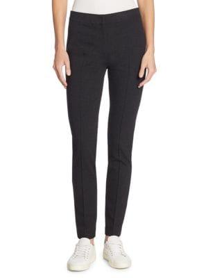 Ferry High-Waist Straight-Leg Cropped Jersey Pants, Coal