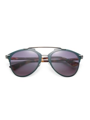 Reflected 52Mm Modified Pantos Sunglasses in Navy Tortoise