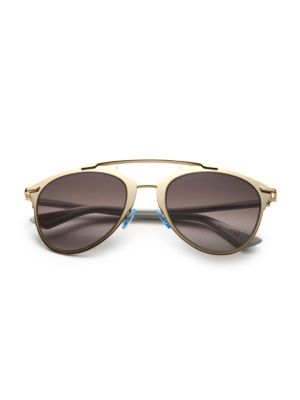 Reflected 52Mm Modified Pantos Sunglasses in Rose Gold