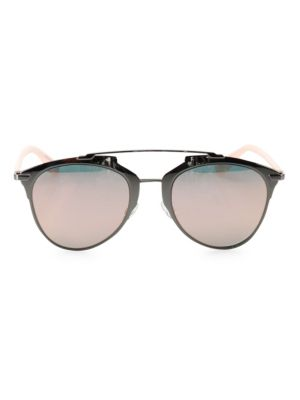 Reflected 52Mm Modified Pantos Sunglasses in Ruthenium Pink