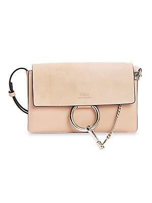 9cb193472698 Chloé - Small Faye Leather   Suede Bag - saks.com