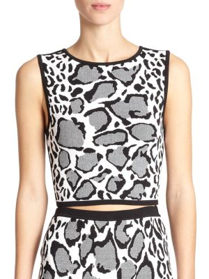 Buy Ohne Titel Reversible Leopard-Print Crop Top online with Australia wide shipping