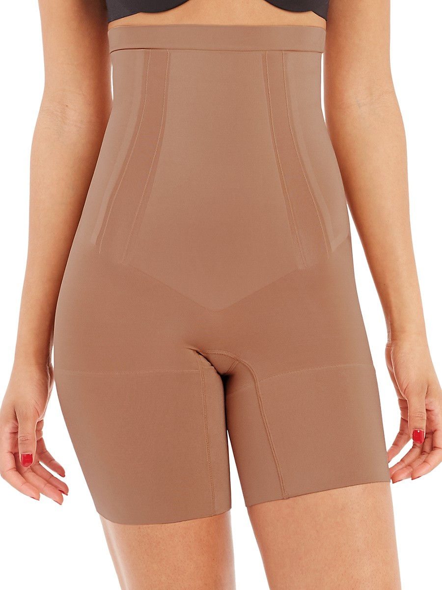 SPANX Cottons WOMEN'S ONCORE HIGH-WAIST MID-THIGH SHORTS
