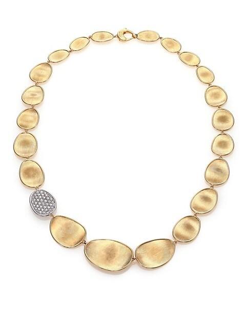 Lunaria Diamond & 18K Yellow Gold Single-Station Collar Necklace