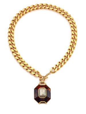 c94b94a6b Shana Gulati - Ozar 18K Goldplate Diamonds & Garnet Pendant Necklace ...
