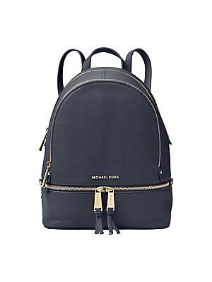 8c7262e95dd40b COACH - Rivet Trim Campus Leather Backpack - saks.com