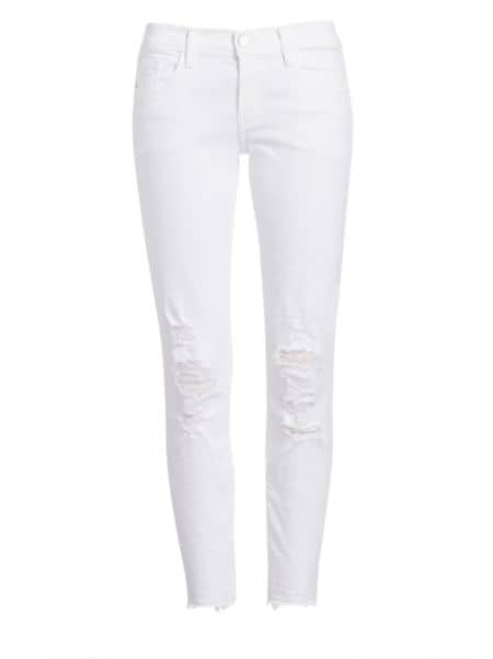J BRAND - 9326 Low-Rise Distressed Cropped Skinny Jeans
