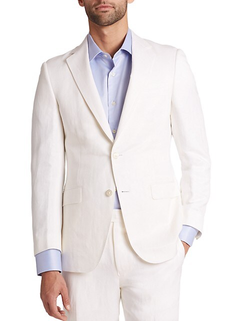 COLLECTION BY SAMUELSOHN Classic-Fit Silk & Linen Sportcoat