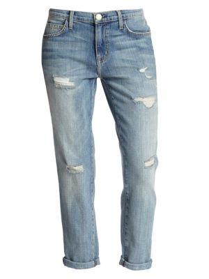 The Fling Distressed Slim-Fit Boyfriend Jeans plus size,  plus size fashion plus size appare