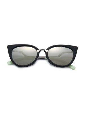 256533f7c53 Fendi Zig-Zag Arm 52Mm Cat Eye Sunglasses In Nocolor