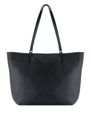 Gigi New York Tori Leather Tote In Black