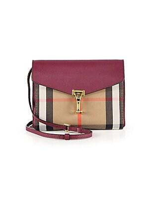 963a33bcb0f3 Burberry - Small Macken Vintage Check Leather Crossbody - saks.com